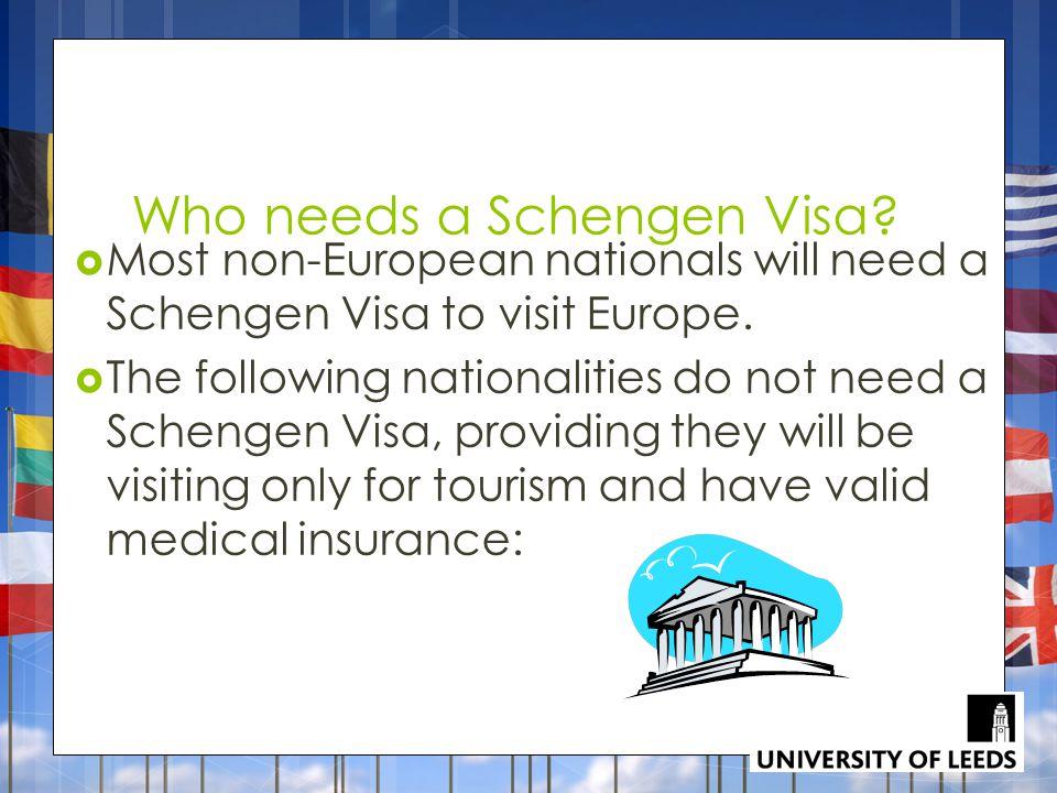 Who needs a Schengen Visa