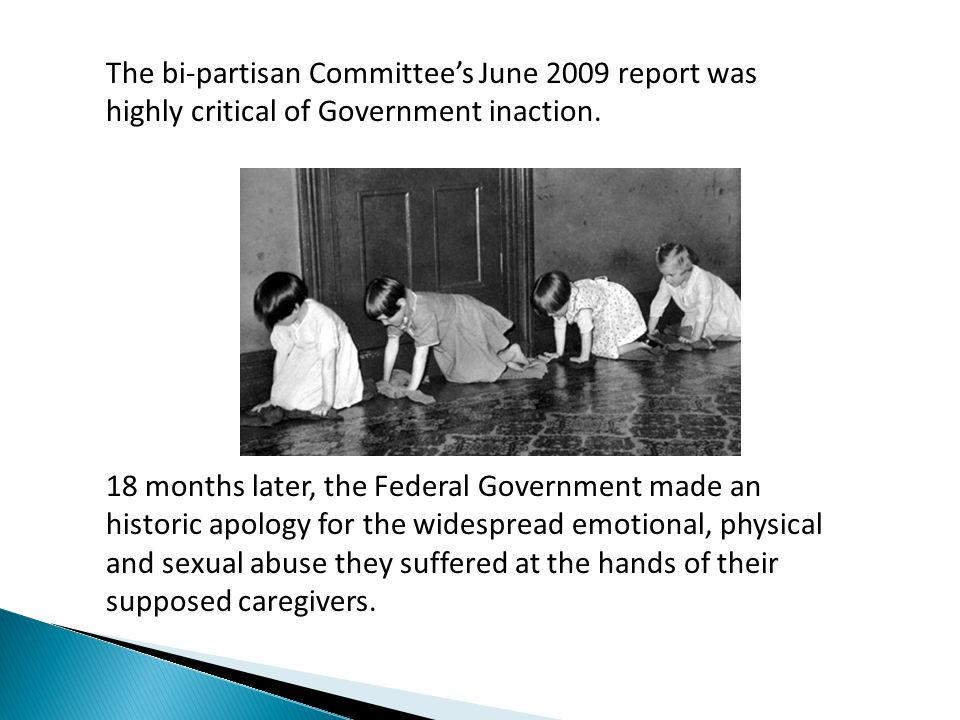 The bi-partisan Committee's June 2009 report was highly critical of Government inaction.