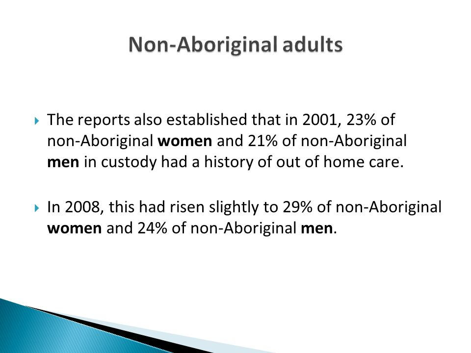 Non-Aboriginal adults