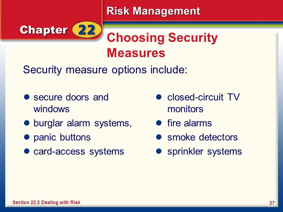 Choosing Security Measures