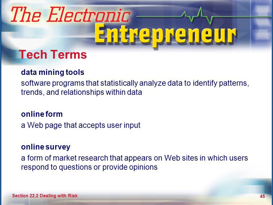 Tech Terms data mining tools