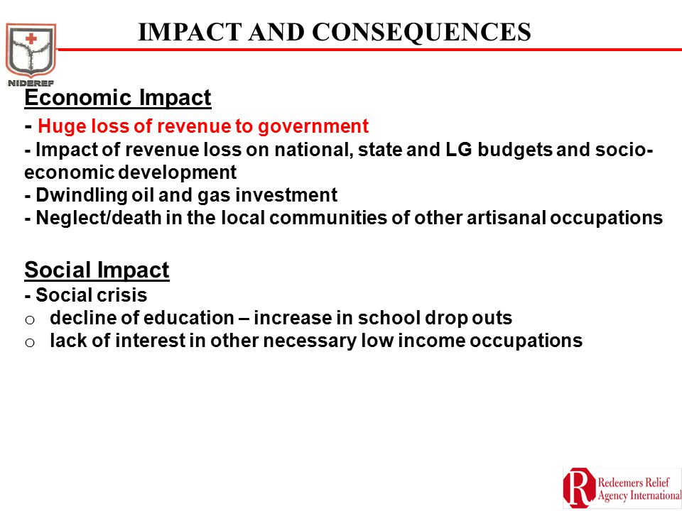 IMPACT AND CONSEQUENCES