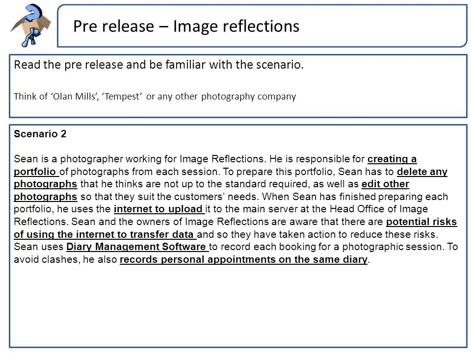 Pre release – Image reflections