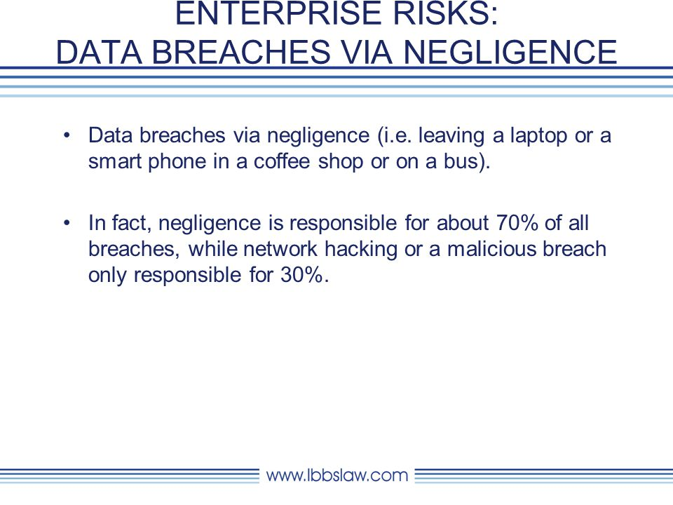 ENTERPRISE RISKS: DATA BREACHES VIA NEGLIGENCE