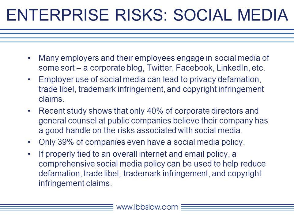 ENTERPRISE RISKS: SOCIAL MEDIA
