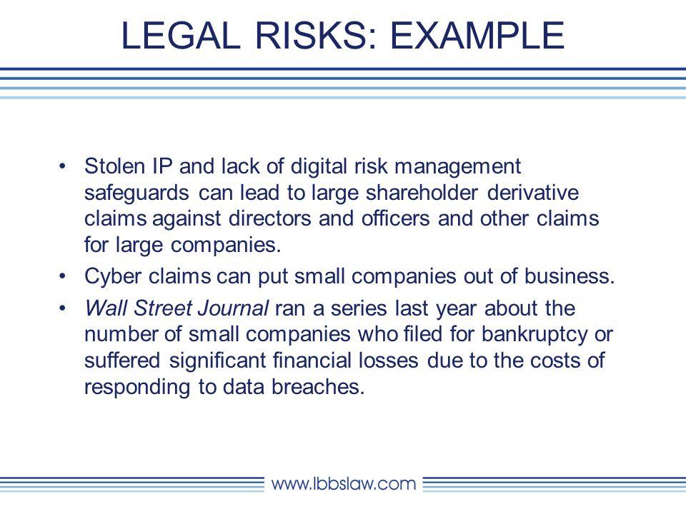 LEGAL RISKS: EXAMPLE