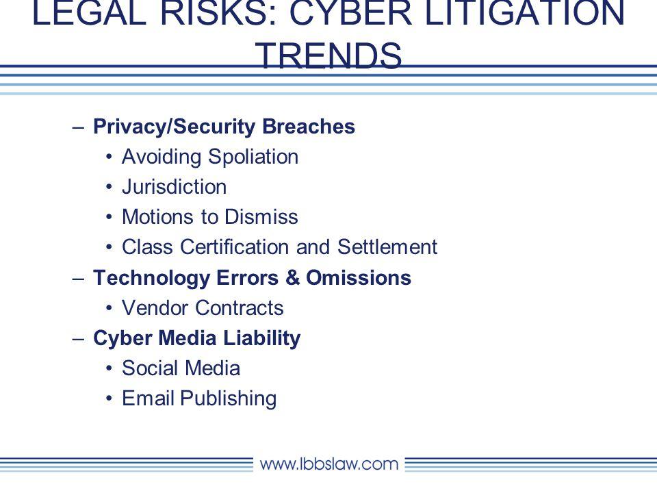 LEGAL RISKS: CYBER LITIGATION TRENDS