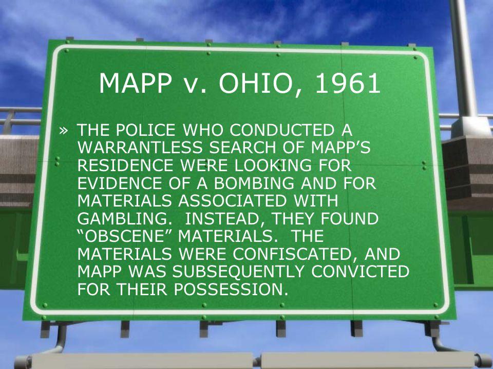 MAPP v. OHIO, 1961