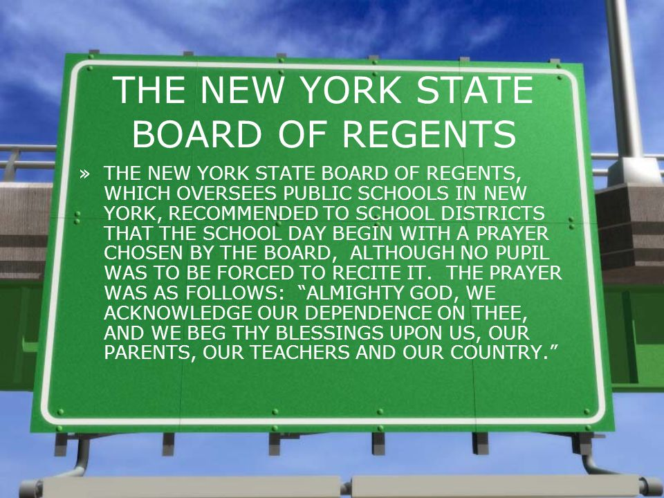 THE NEW YORK STATE BOARD OF REGENTS