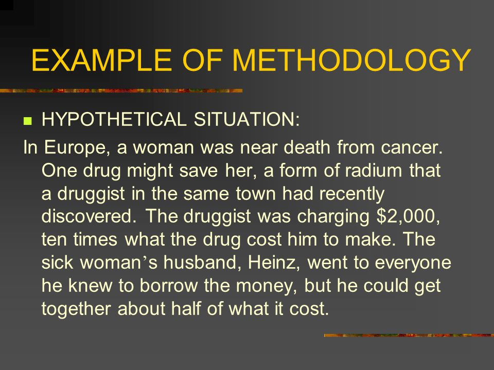 EXAMPLE OF METHODOLOGY