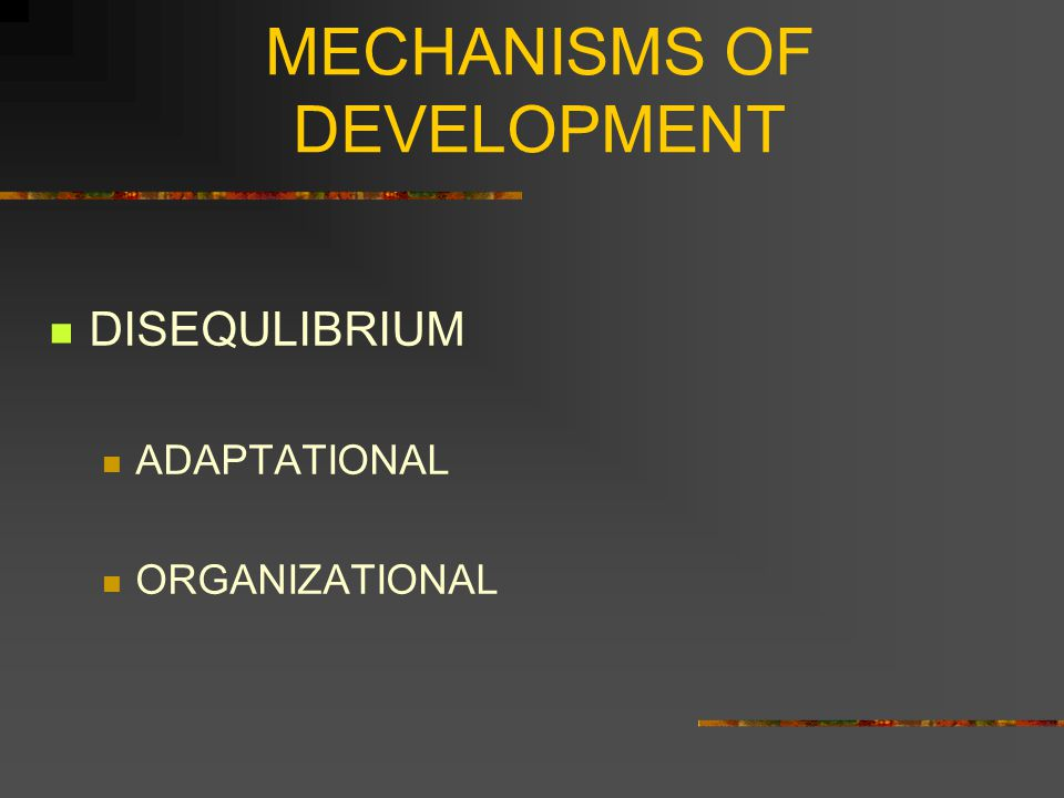 MECHANISMS OF DEVELOPMENT