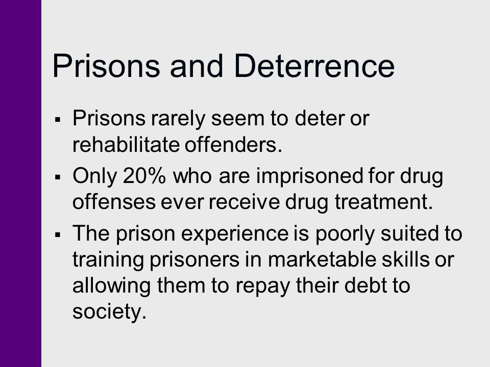 Prisons and Deterrence