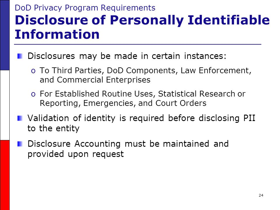 Disclosures may be made in certain instances: