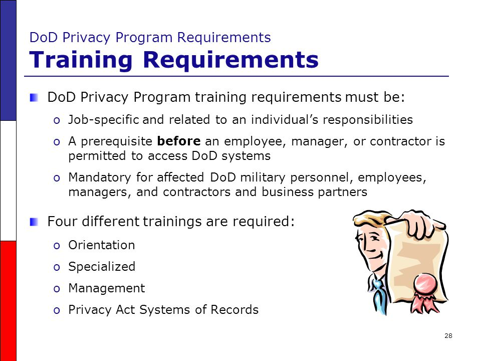 DoD Privacy Program Requirements Training Requirements