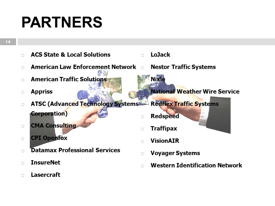PARTNERS ACS State & Local Solutions LoJack