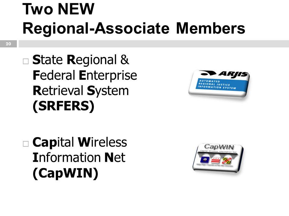 Two NEW Regional-Associate Members