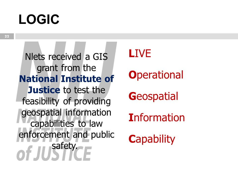 LOGIC LIVE Operational Geospatial Information Capability