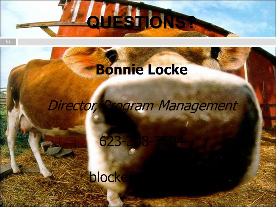 QUESTIONS Bonnie Locke Director, Program Management 623-308-3504 blocke@nlets.org
