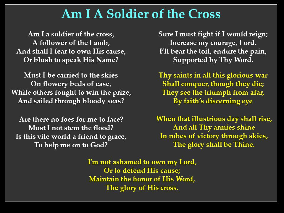 Am I A Soldier of the Cross
