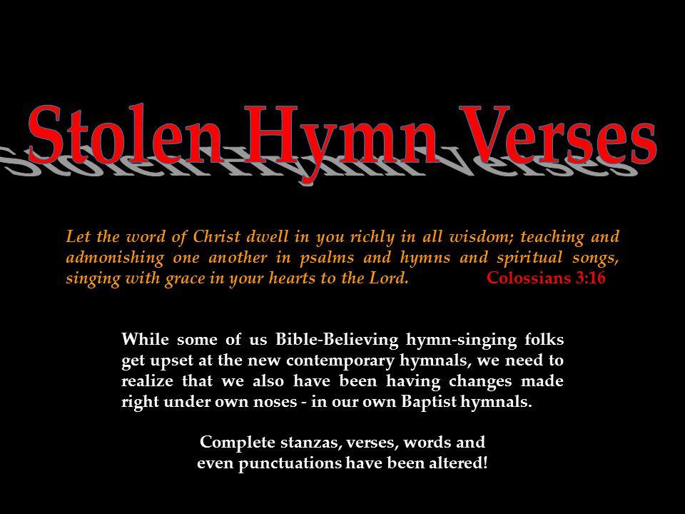 Stolen Hymn Verses