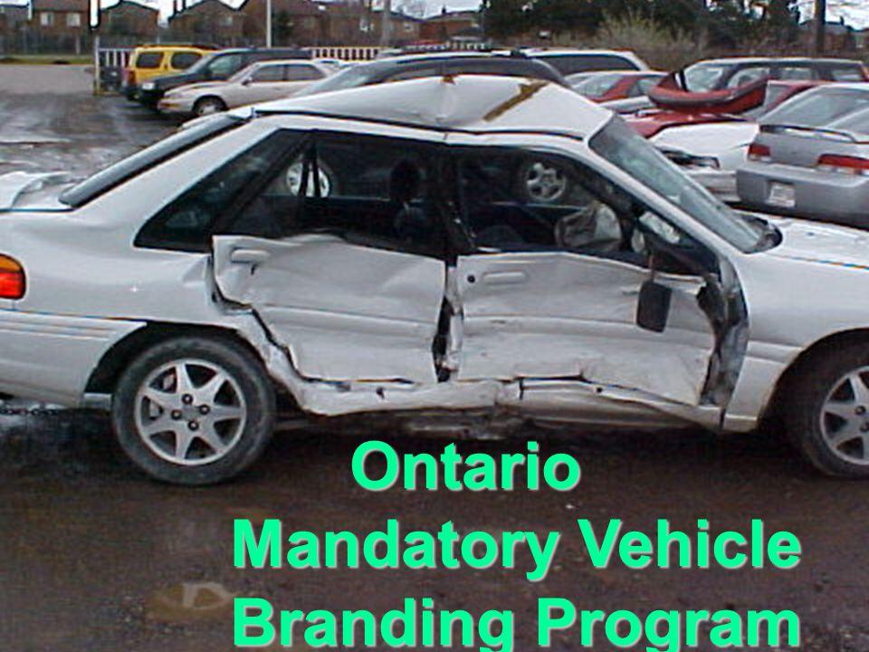 Ontario Mandatory Vehicle Branding Program