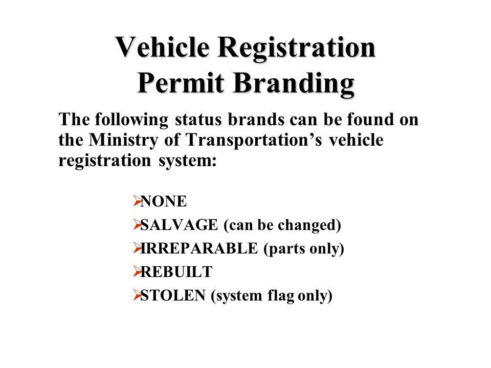 Vehicle Registration Permit Branding