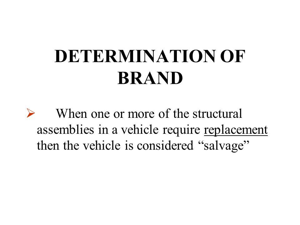 DETERMINATION OF BRAND