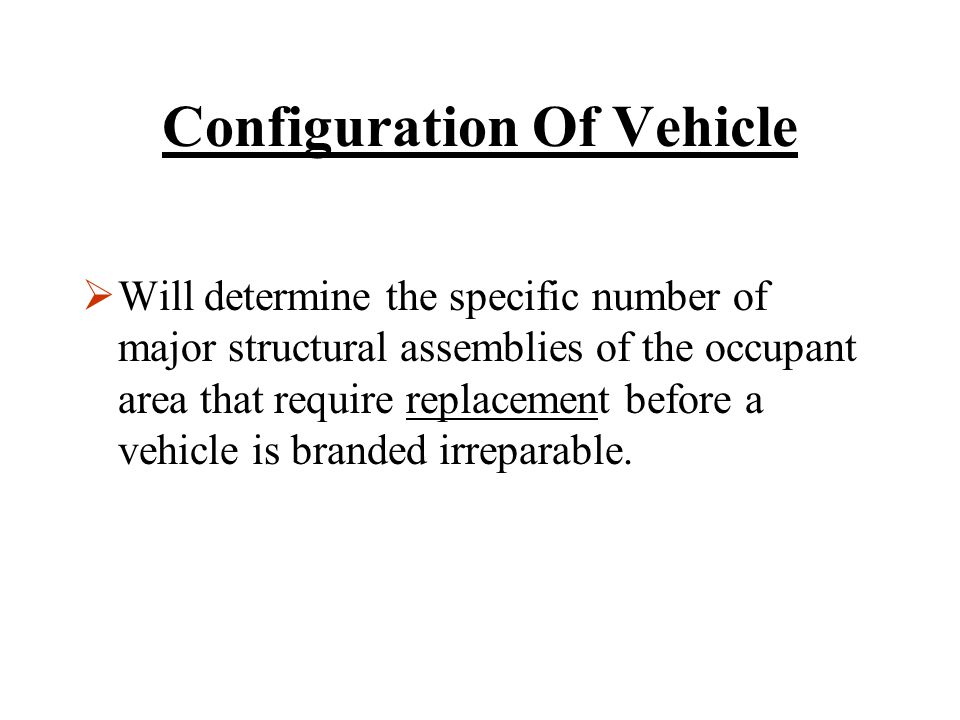 Configuration Of Vehicle