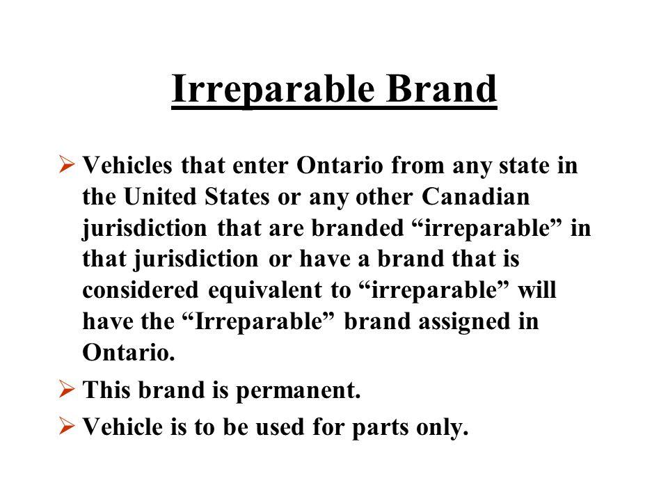 Irreparable Brand