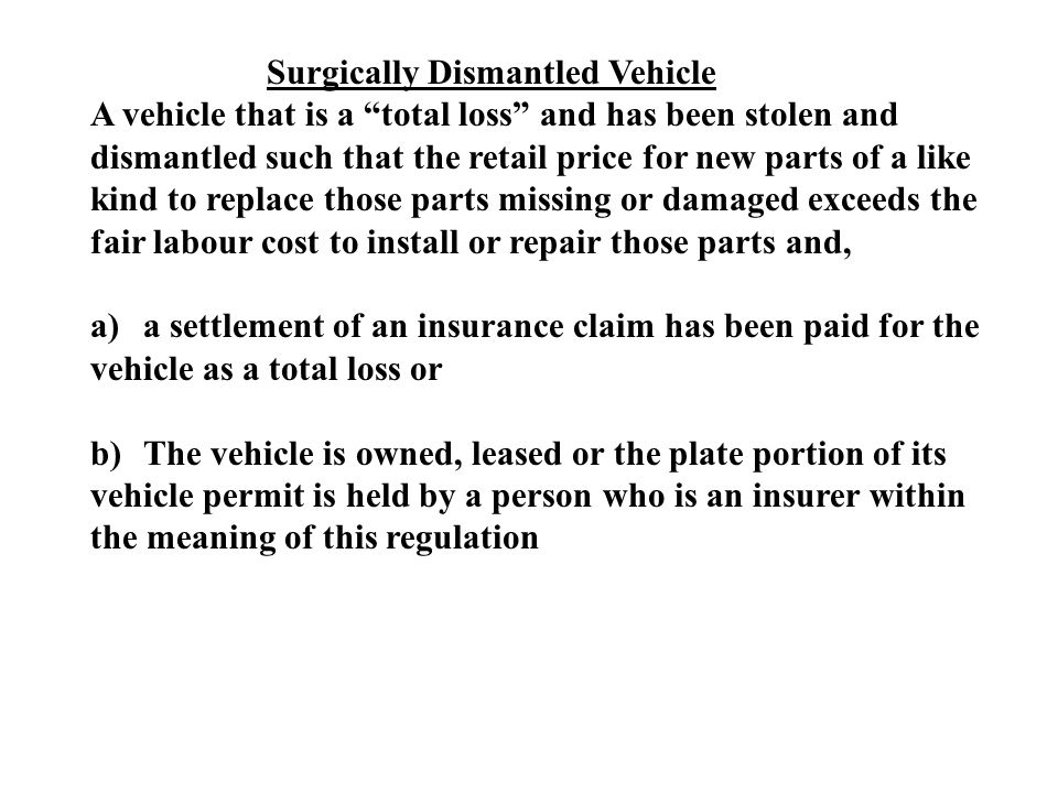 Surgically Dismantled Vehicle