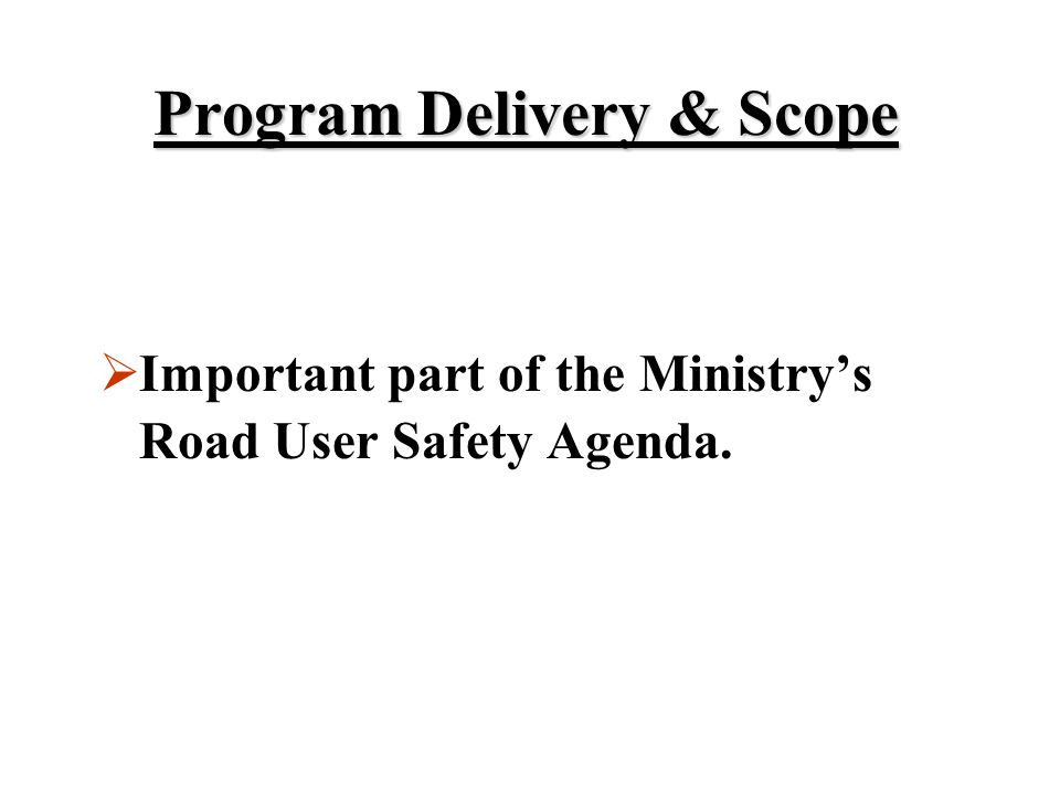 Program Delivery & Scope