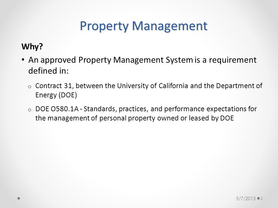 Property Management Why