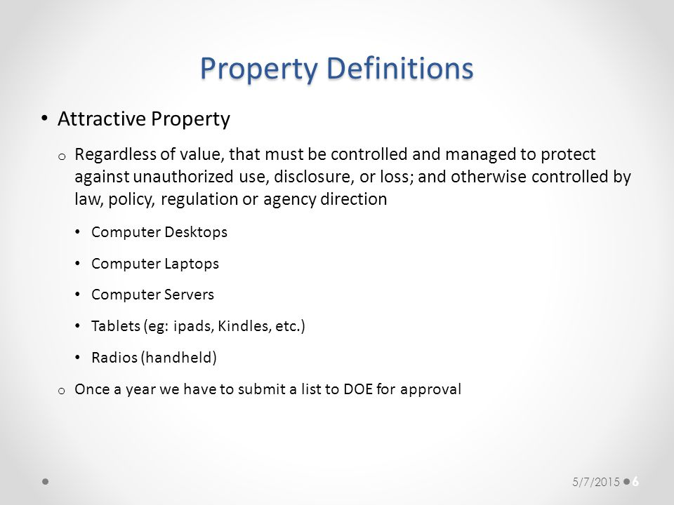 Property Definitions Attractive Property