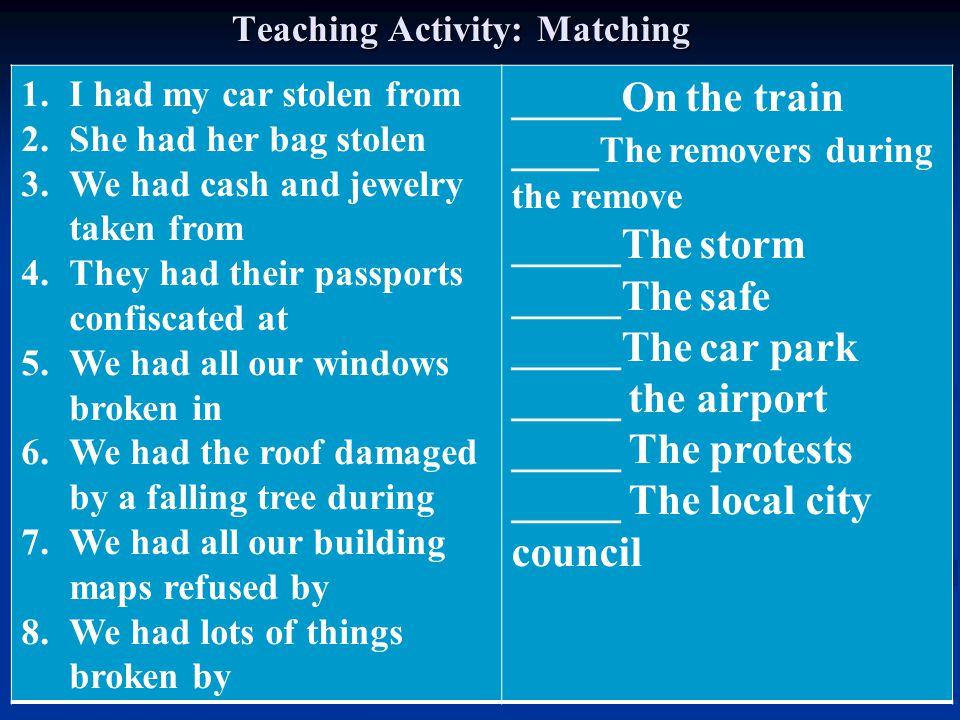 Teaching Activity: Matching