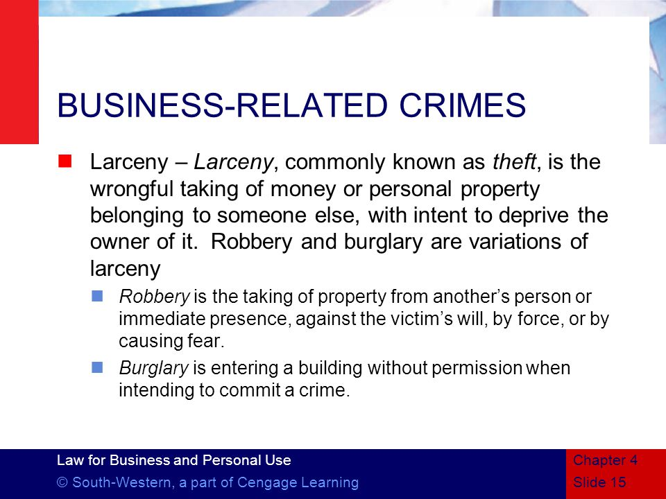BUSINESS-RELATED CRIMES