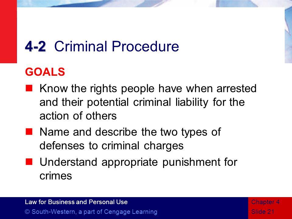 4-2 Criminal Procedure GOALS