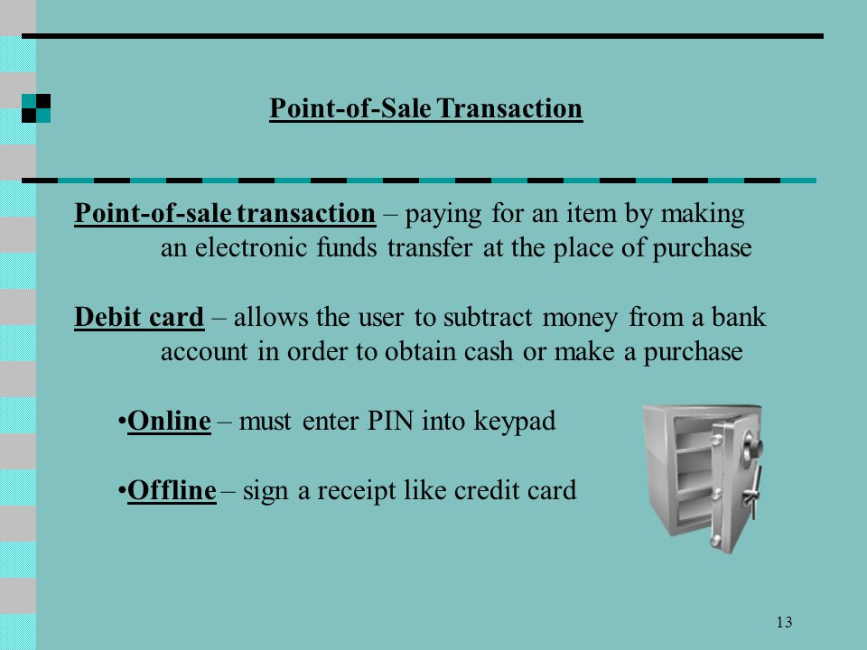 Point-of-Sale Transaction