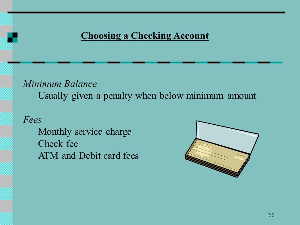 Choosing a Checking Account