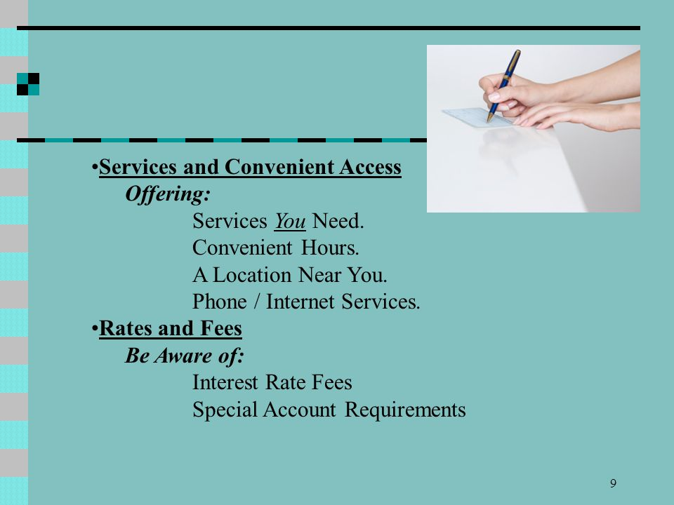 Services and Convenient Access