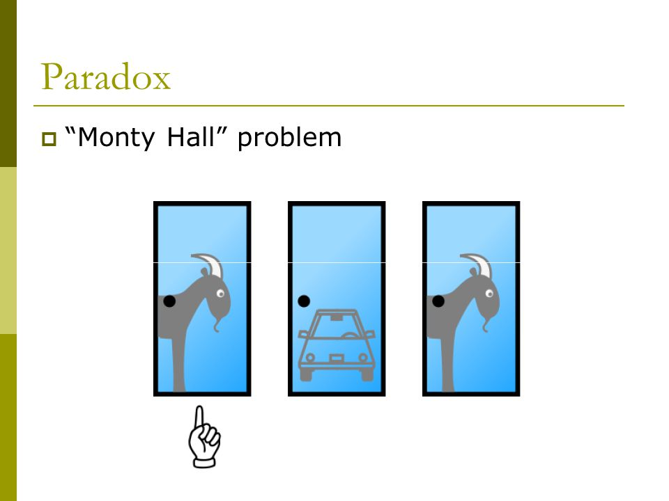 Paradox Monty Hall problem