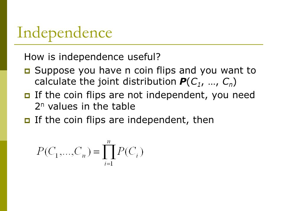 Independence How is independence useful