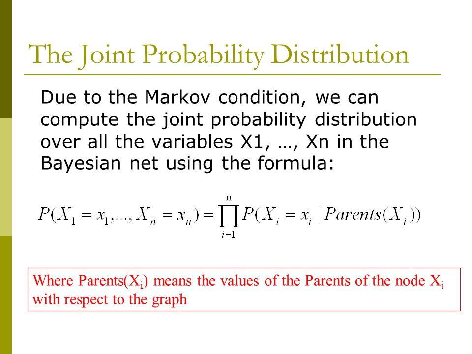 The Joint Probability Distribution