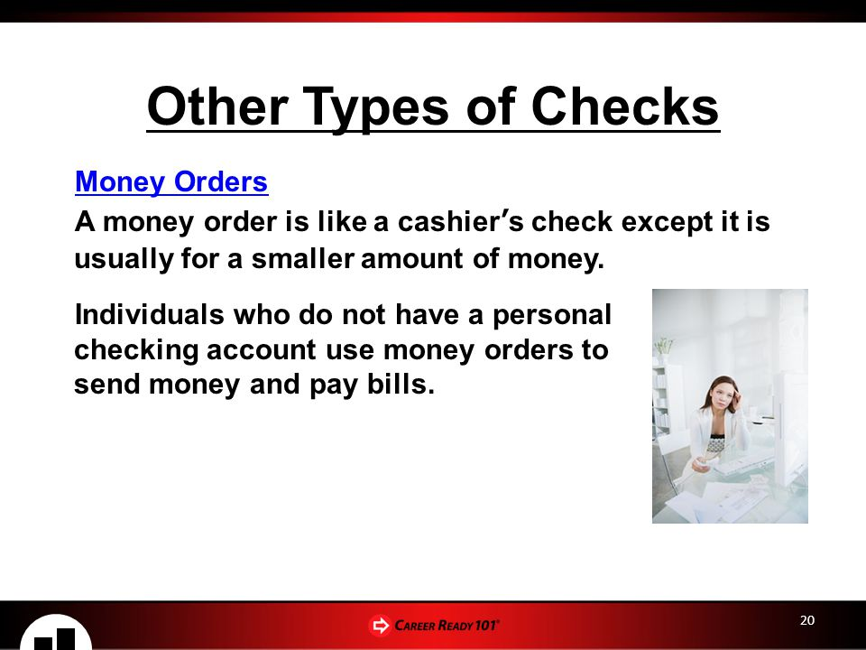 Other Types of Checks Money Orders