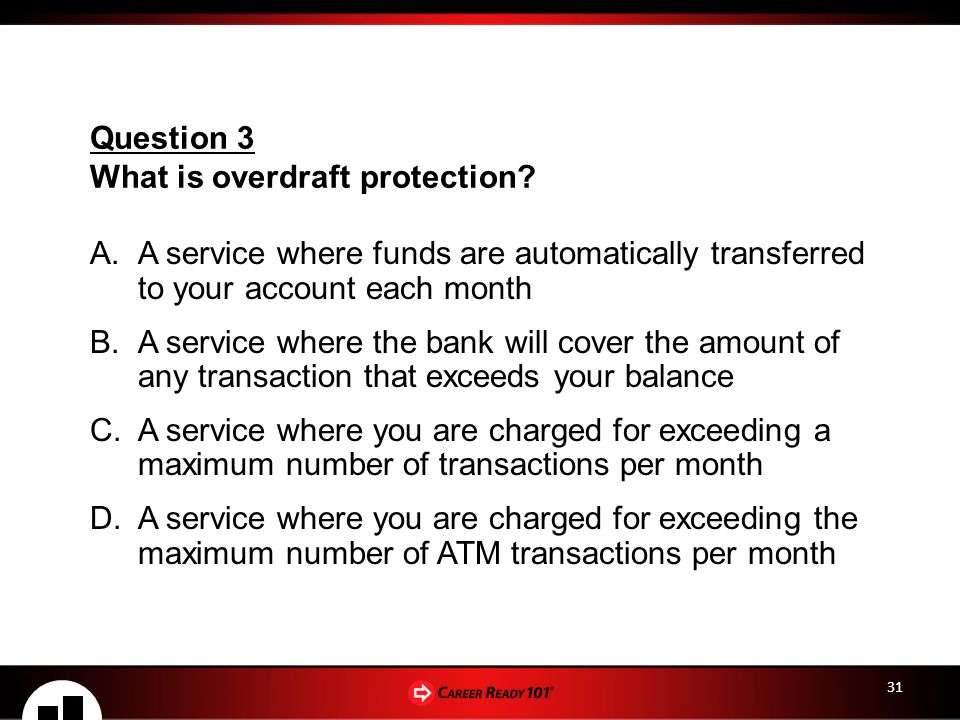 What is overdraft protection