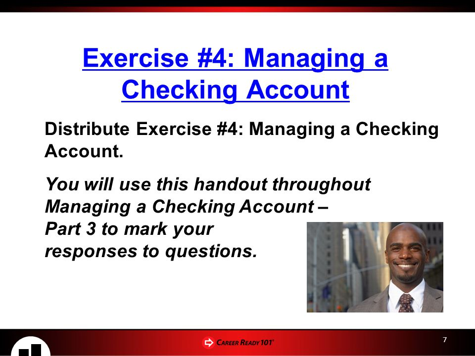 Exercise #4: Managing a Checking Account