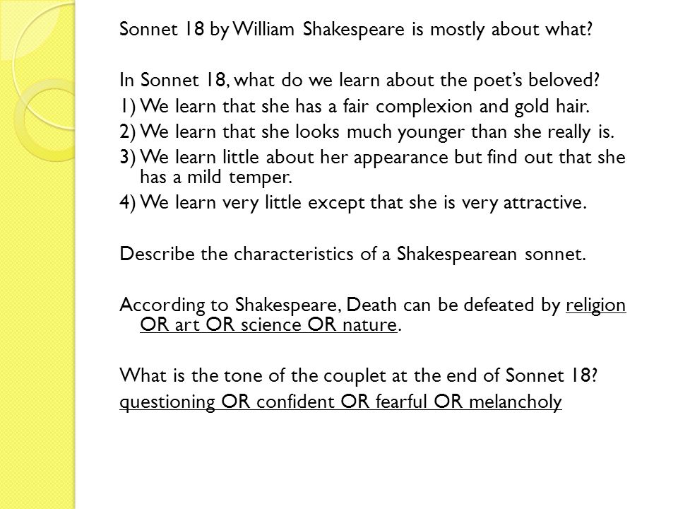 essay about sonnet 18 by william shakespeare Essay, research paper: sonnet 18 shakespeare free shakespeare research papers were donated by our members/visitors and are presented free of charge for informational use only.
