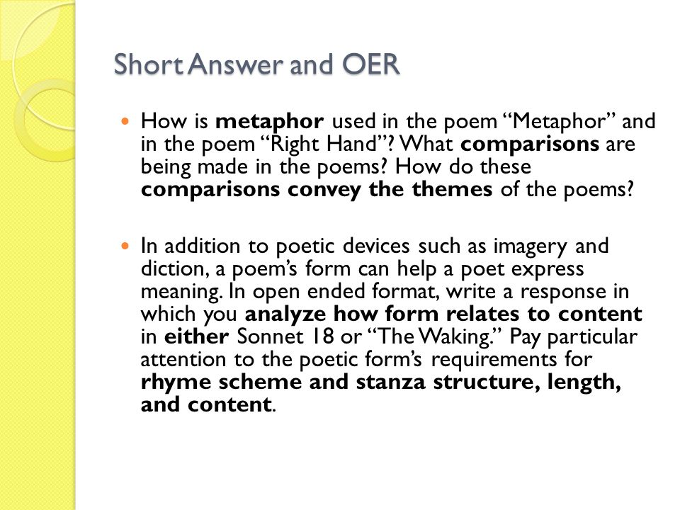 Short Answer and OER