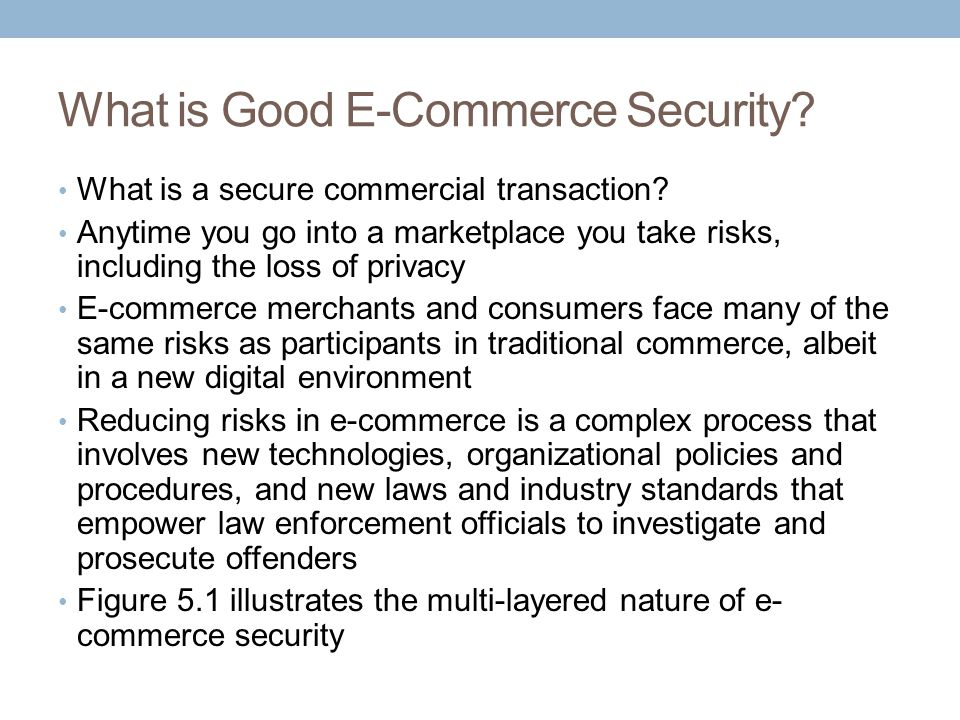 What is Good E-Commerce Security