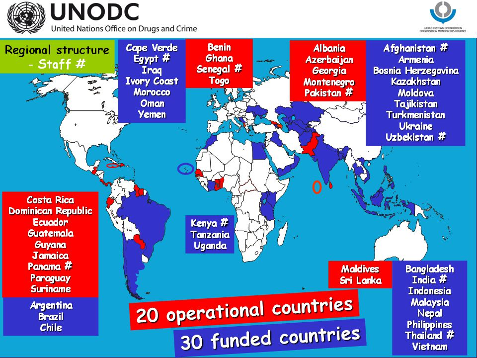 20 operational countries