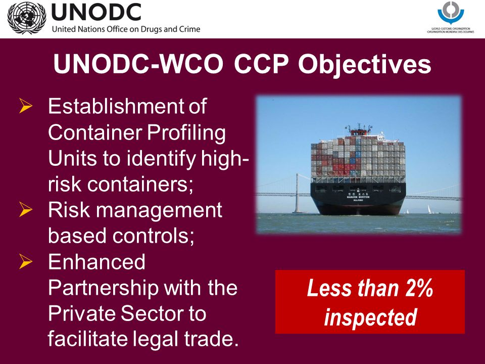 UNODC-WCO CCP Objectives